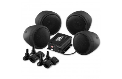 "Boss Audio Systems 1000 Watt Bluetooth 3"" Black Speaker Kit - MCBK470B"