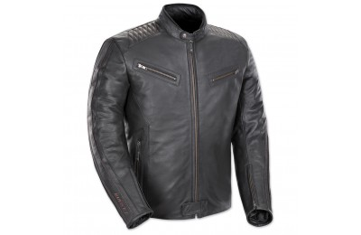 Joe Rocket Men's Vintage Rocket Black/Black Leather Jacket - 1680-1005