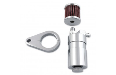 V-Twin Manufacturing Chrome Engine Breather Oil Collector - 40-0595