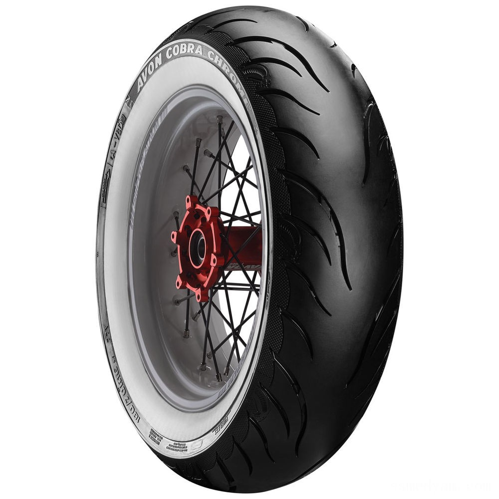 Avon AV92 Cobra Chrome 150/80B16 Wide Whitewall Rear Tire - 2120295
